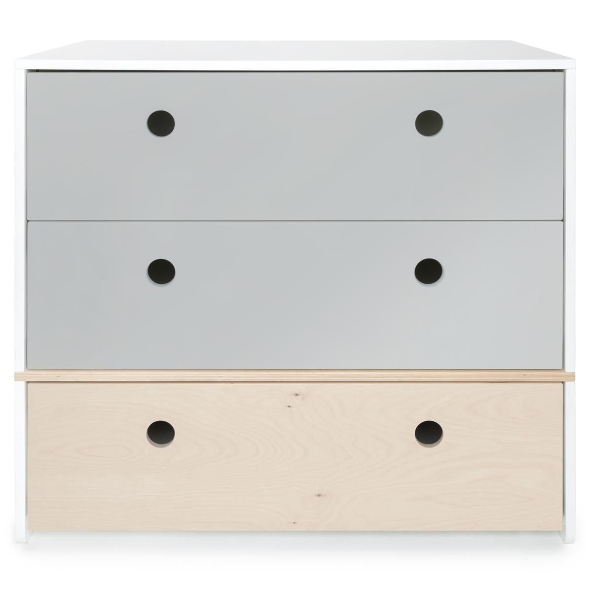 Kommode COLORFLEX Schubladen Farben pearl grey-pearl grey-white wash