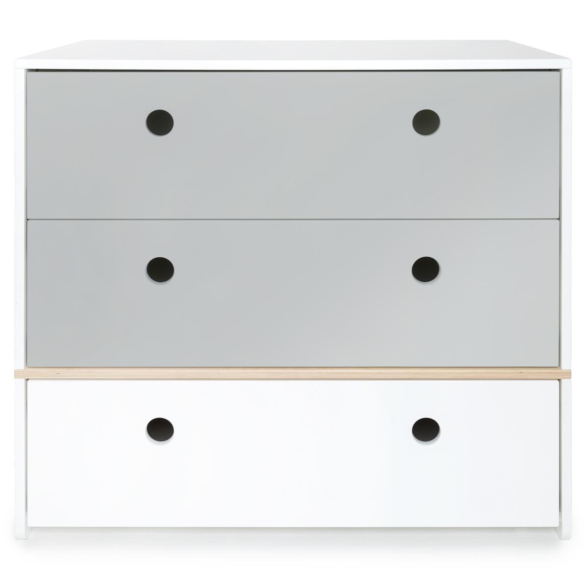Kommode COLORFLEX Schubladen Farben pearl grey-pearl grey-white