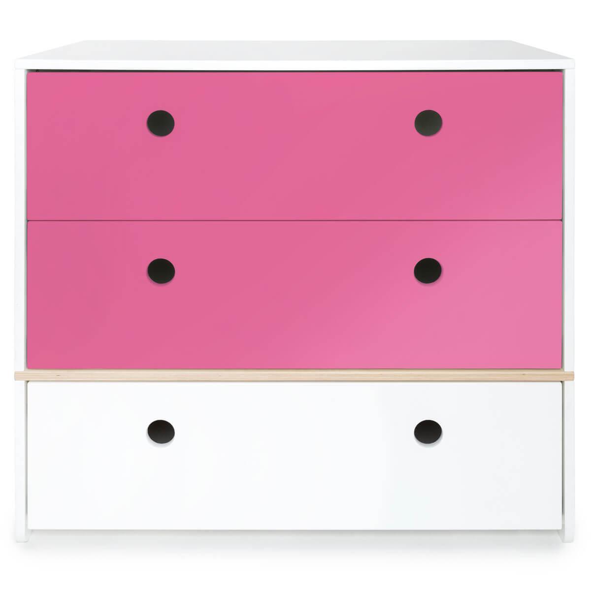 Kommode COLORFLEX Schubladen Farben pink-pink-white