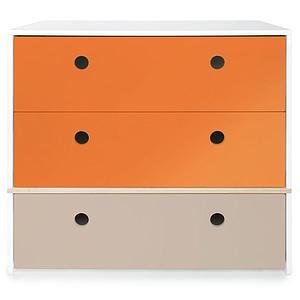 Kommode COLORFLEX Schubladen Farben pure orange-pure orange-warm grey