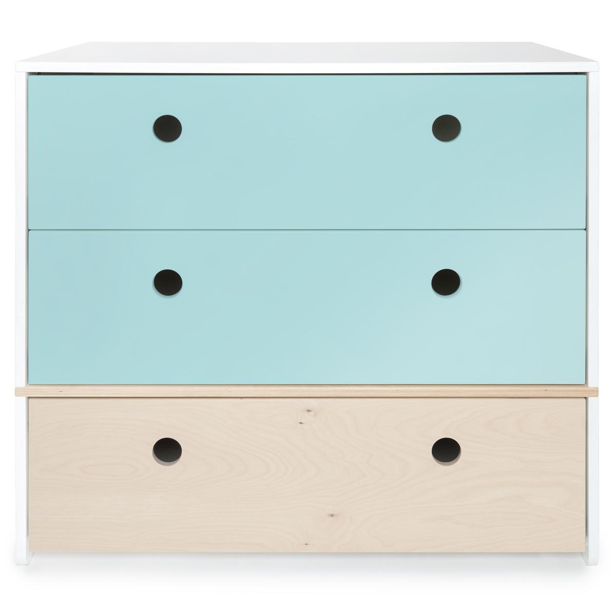 Kommode COLORFLEX Schubladen Farben sky blue-white wash