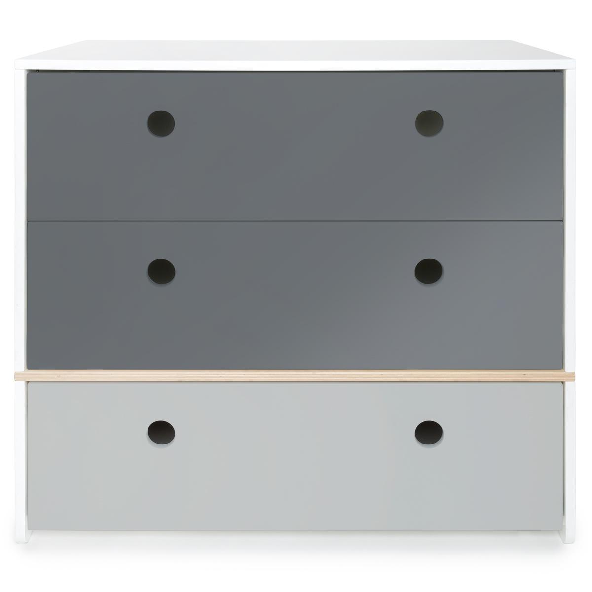 Kommode COLORFLEX Schubladen Farben space grey-space grey-pearl grey