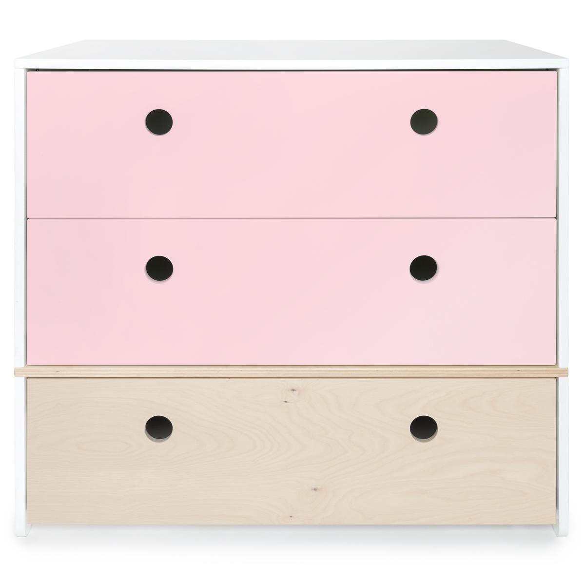 Kommode COLORFLEX Schubladen Farben sweet pink-white wash