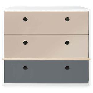 Kommode COLORFLEX Schubladen Farben warm grey-warm grey-space grey