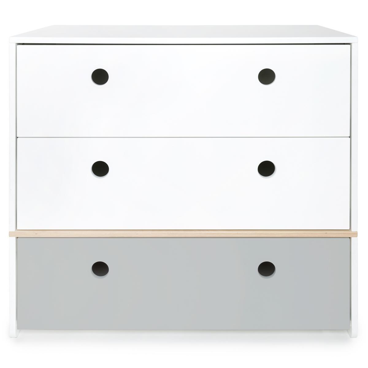 Kommode COLORFLEX Schubladen Farben white-white-pearl grey