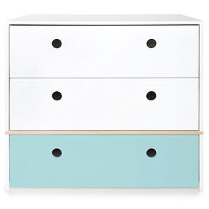 Kommode COLORFLEX Schubladen Farben white-white-sky blue