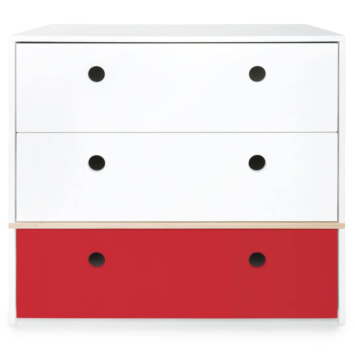 Kommode COLORFLEX Schubladen Farben white-white-true red