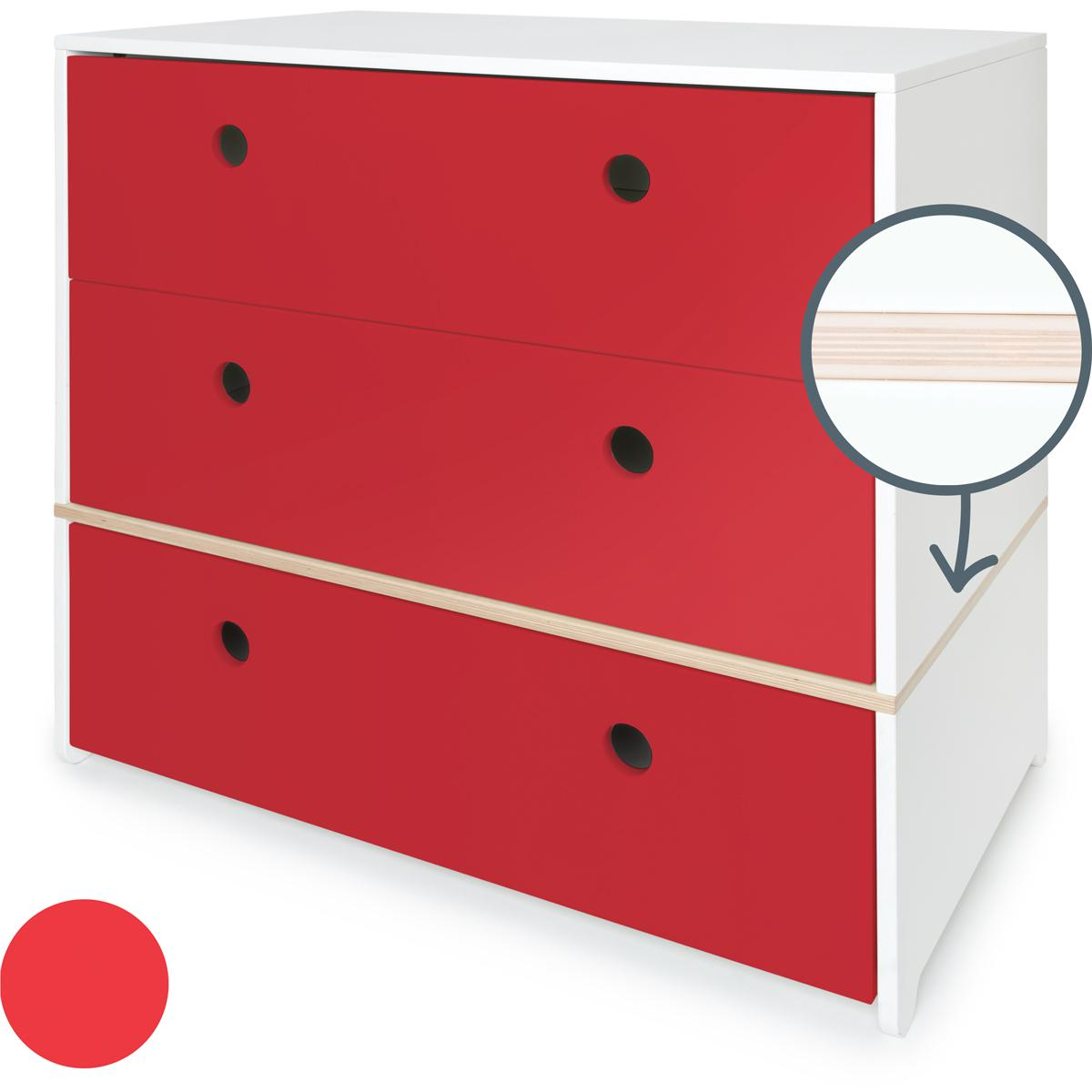 Kommode COLORFLEX Schubladen true red