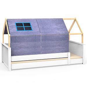 Liege-Dach bodentief-Fallschutz niedrig KASVA mit Textilien Bobble green-blue