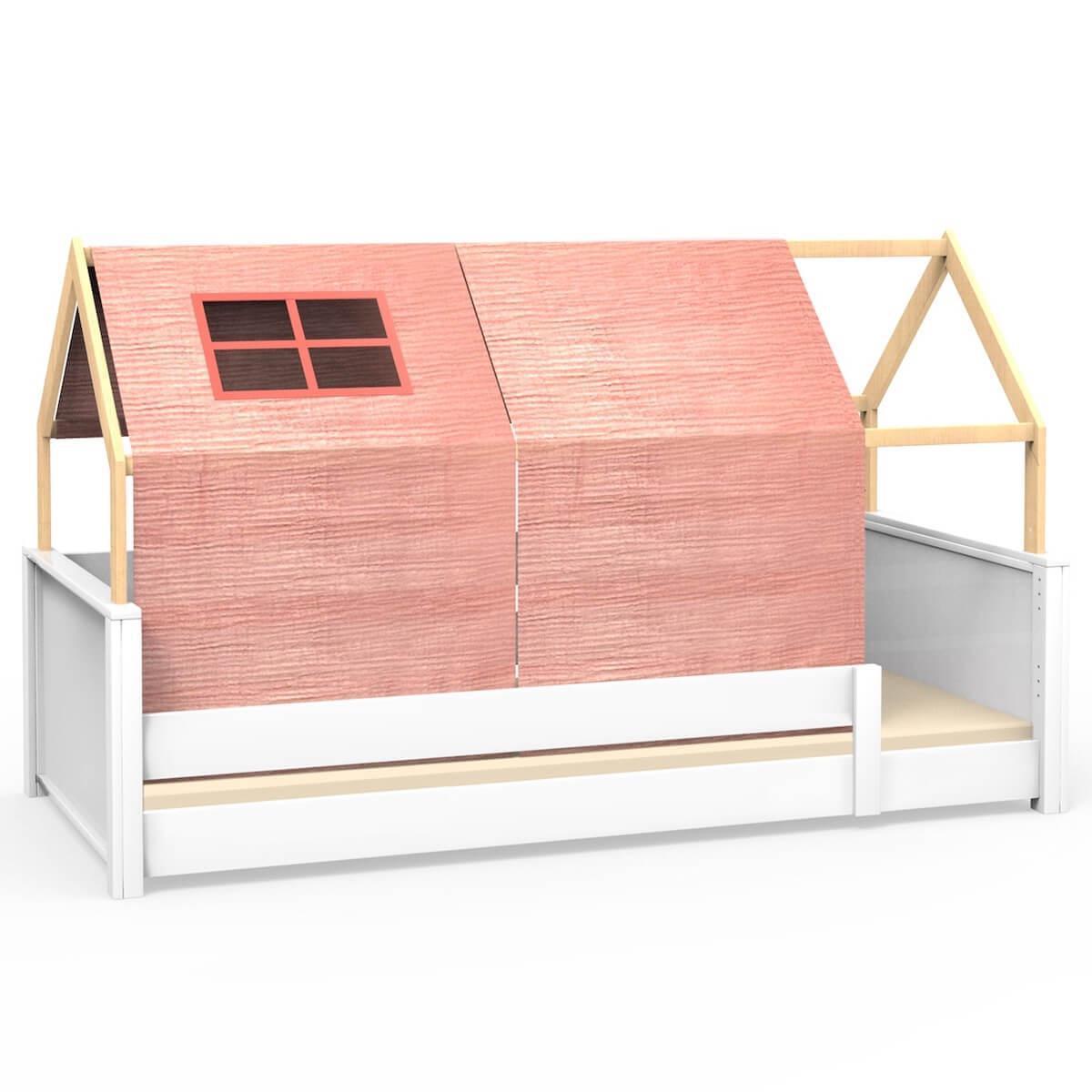 Liege-Dach bodentief-Fallschutz niedrig KASVA mit Textilien Bobble pink