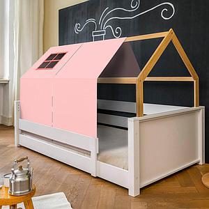 Liege-Dach bodentief-Fallschutz niedrig KASVA mit Textilien Viena pink