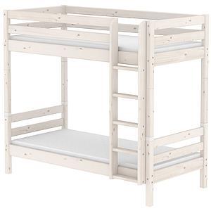 Mitwachsendes Etagenbett 90x200 cm-gerade Leiter CLASSIC Flexa whitewash
