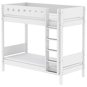 Mitwachsendes Etagenbett 90x200 cm-gerade Leiter WHITE Flexa weiß