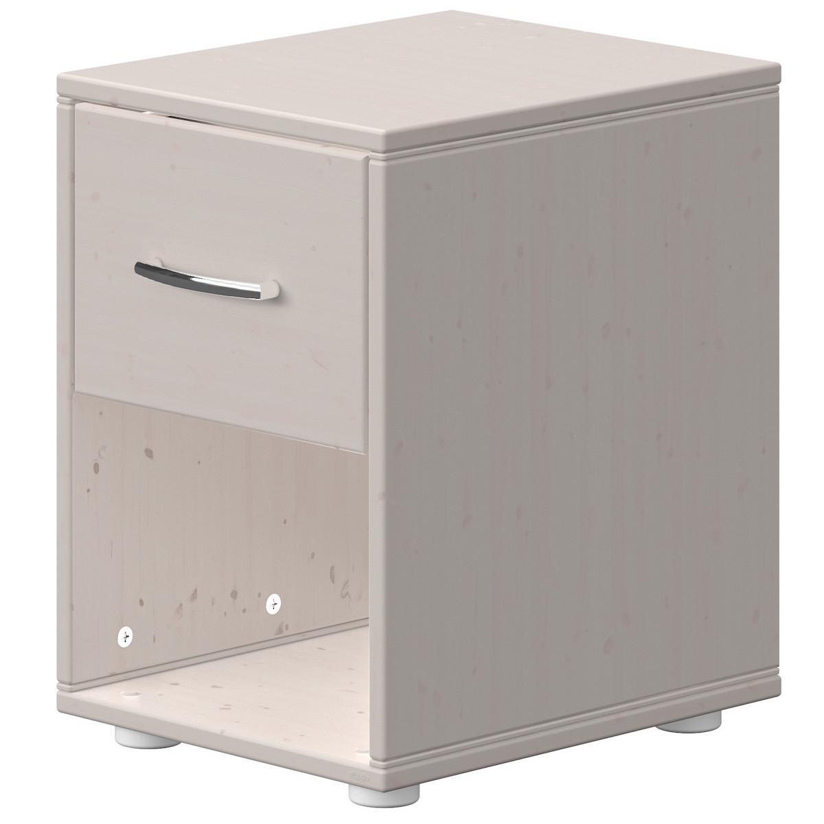 Nachttisch 1 Schublade CLASSIC Flexa grey washed