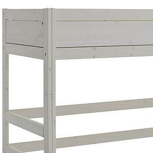Niedriges Spielbett 90x200cm mit Rollboden Schrägleiter Lifetime greywash