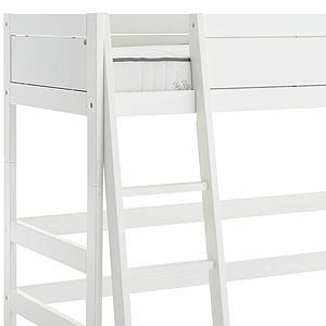 Niedriges Spielbett 90x200cm mit Rollrost Schrägleiter Lifetime Weiß