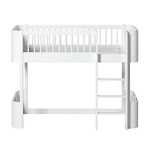Niedriges Spielbett mitwachsend 68x162cm MINI+ WOOD Oliver Furniture weiß