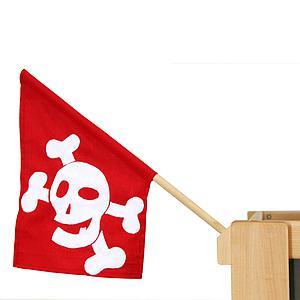 Piratenfahne mit Halter in Buche natur DELUXE de Breuyn