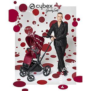 Poussette PRIAM Cybex Petticoat Red Cybex dark red-noir