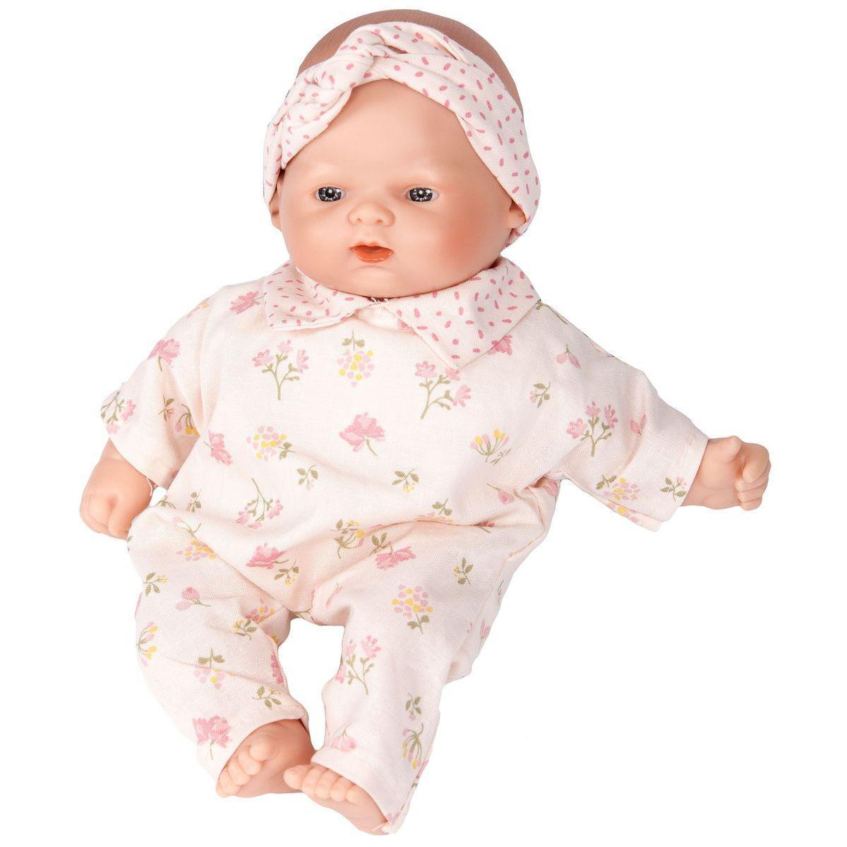 Puppe 26cm FLEURS Barrutoys rosa