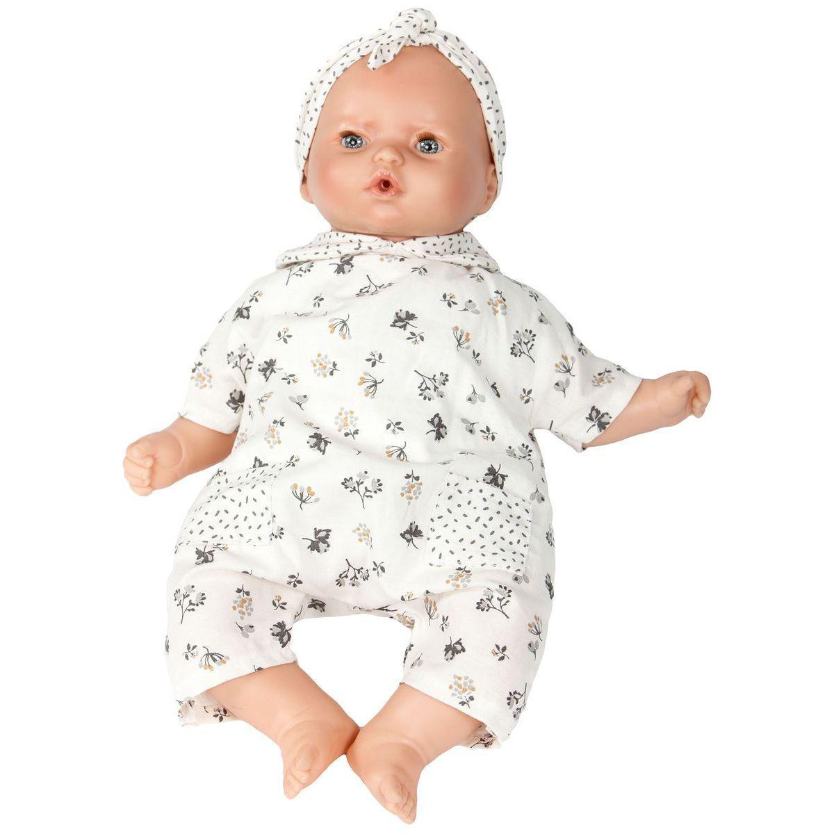 Puppe 36cm FLEURS Barrutoys beige