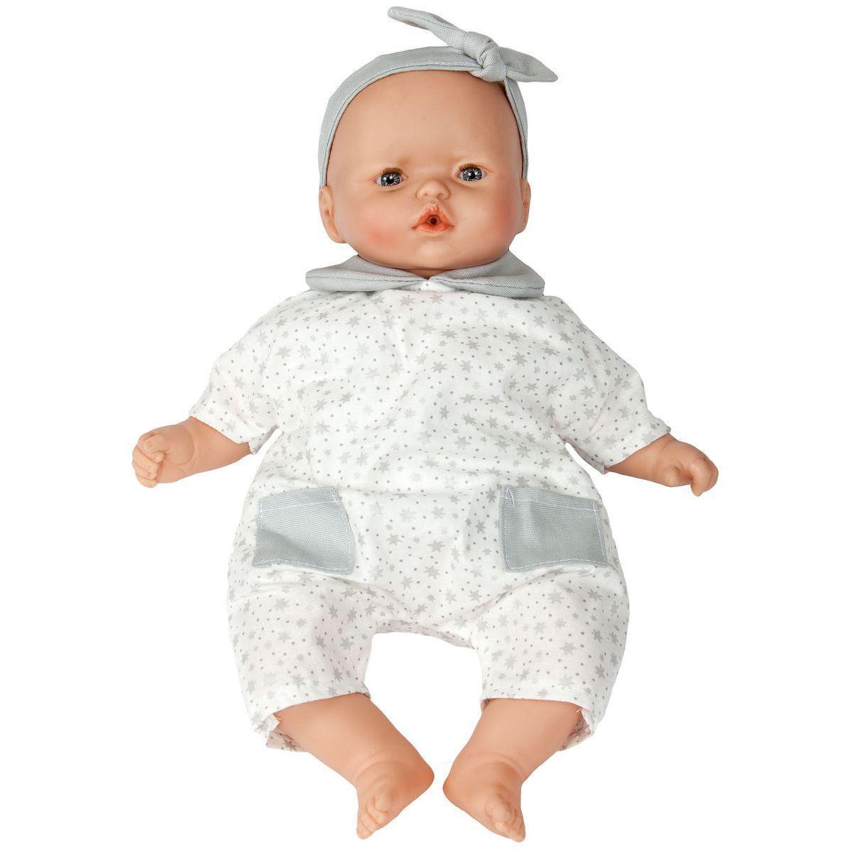 Puppe 36cm STAR Barrutoys grau