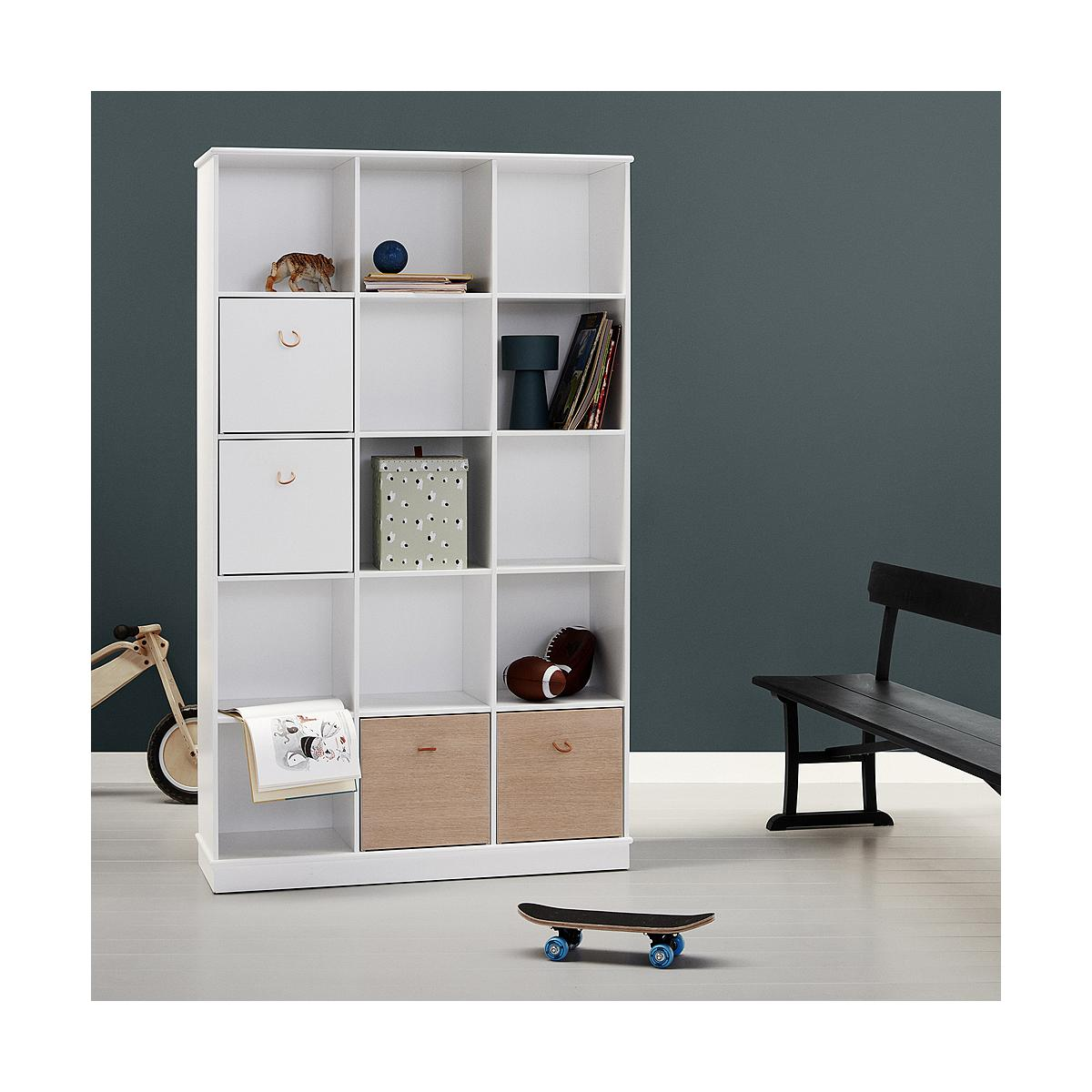 Regal 104x180cm WOOD Oliver Furniture weiß