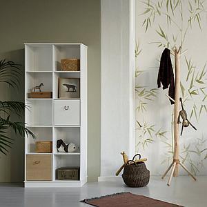 Regal 70x180cm WOOD Oliver Furniture weiß