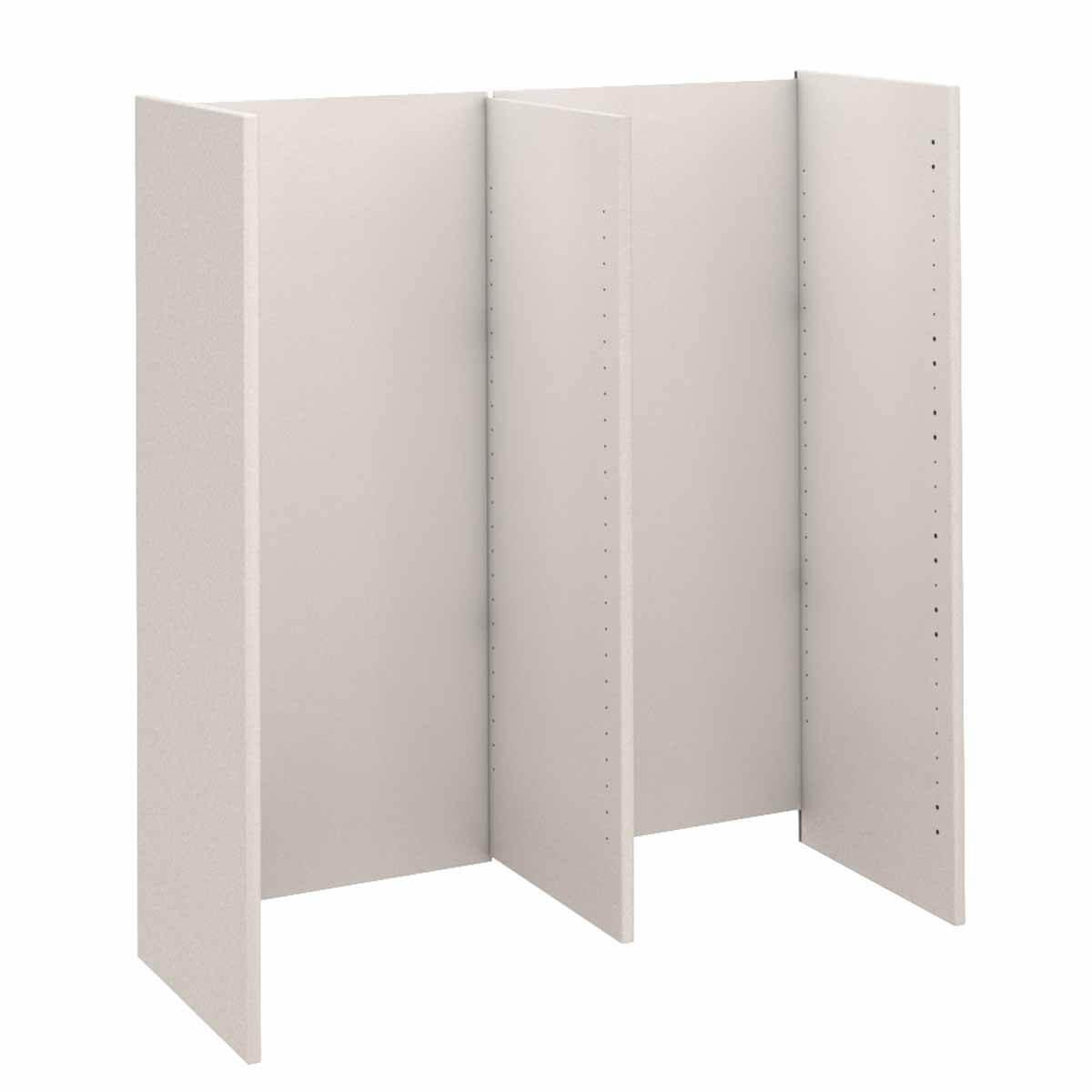 Regal groß Bauteil Seite-Mitte-Rueckwand KASVA Mdf weiß-lackiert