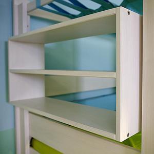 Regal klein seitliches Anbauteil Bettzusatz DESTYLE de Breuyn Buche massiv weiß gebeizt-lackiert