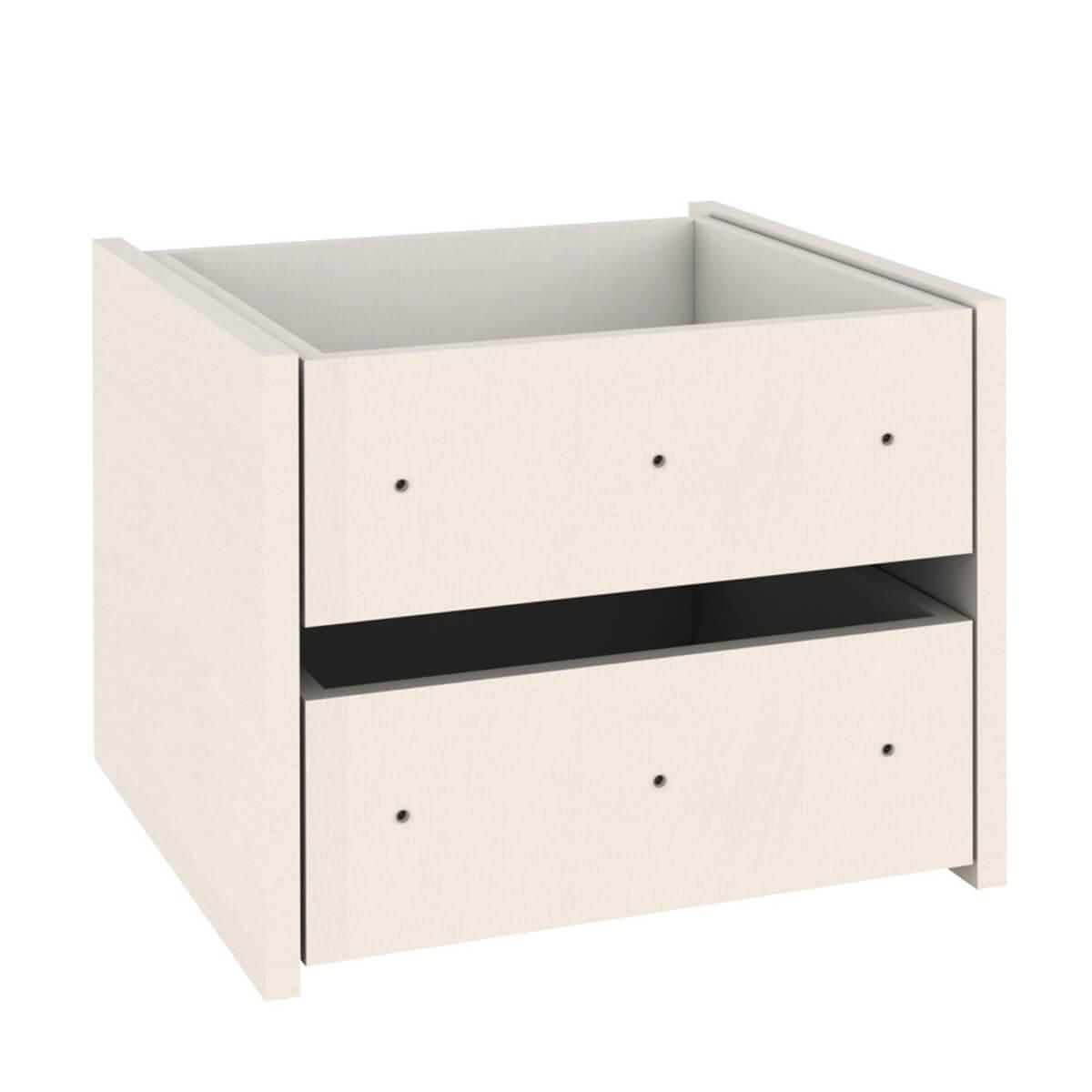 Regal-Schubladen 2er-Set  Einbau-Schubkasten DESTYLE de Breuyn Buchenfurnierte Spanplatte weiß gebeizt-lackiert