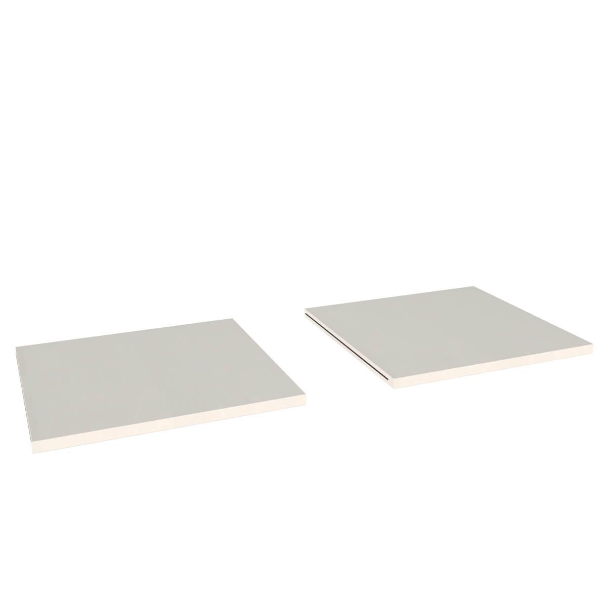 Regalboden 2er-Set DESTYLE Debreuyn  Buchenfurnierte Spanplatte weiß gebeizt-lackiert