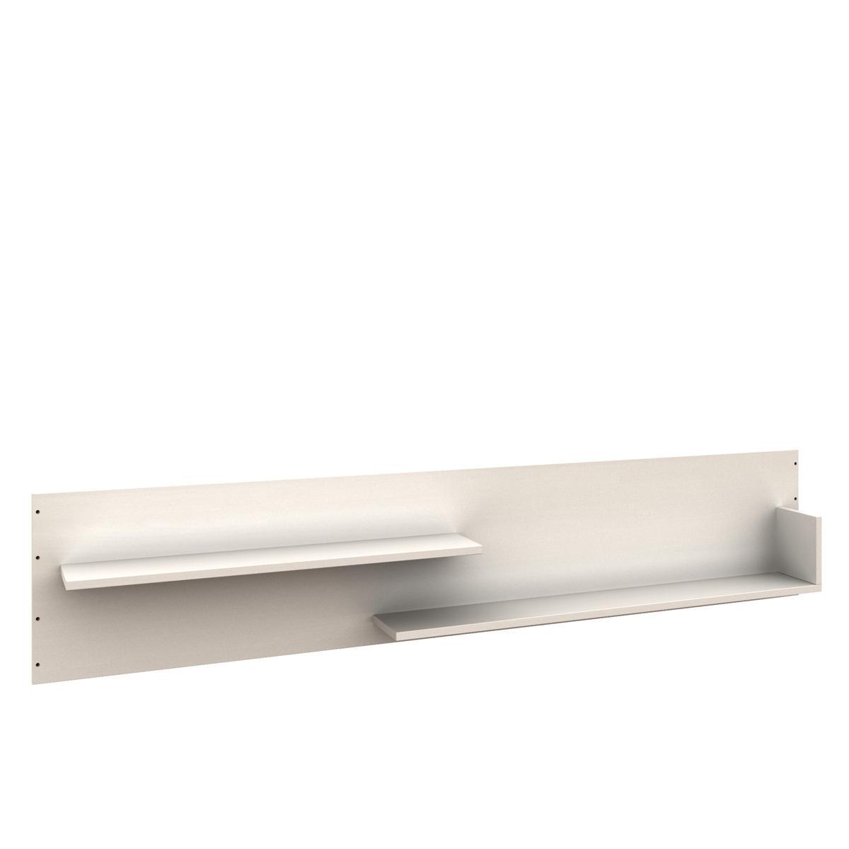 Rückseitenpaneel  Bettzusatz DESTYLE Debreuyn Buchenfurnierte Spanplatte weiß gebeizt-lackiert