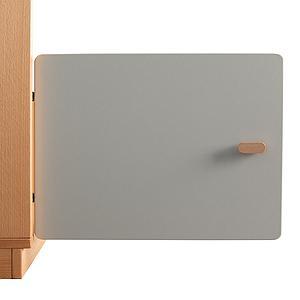 Schranktür 1/5 35cm-Griff DESTYLE de Breuyn MDF grau-lackiert