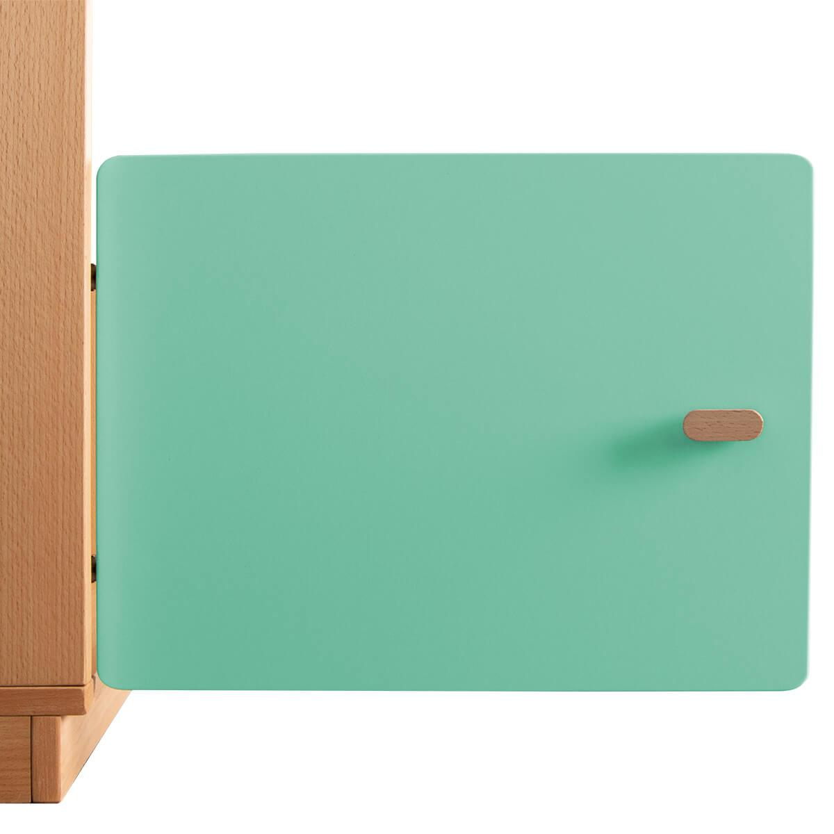 Schranktür 1/5 35cm-Griff DESTYLE de Breuyn MDF grün-lackiert