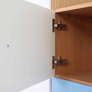 Schranktür 1/5 35cm-Griff DESTYLE de Breuyn MDF hellgrau-lackiert