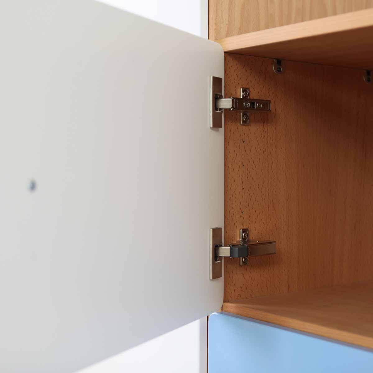 Schranktür 1/5 35cm-Griff DESTYLE de Breuyn MDF lindgrün-lackiert