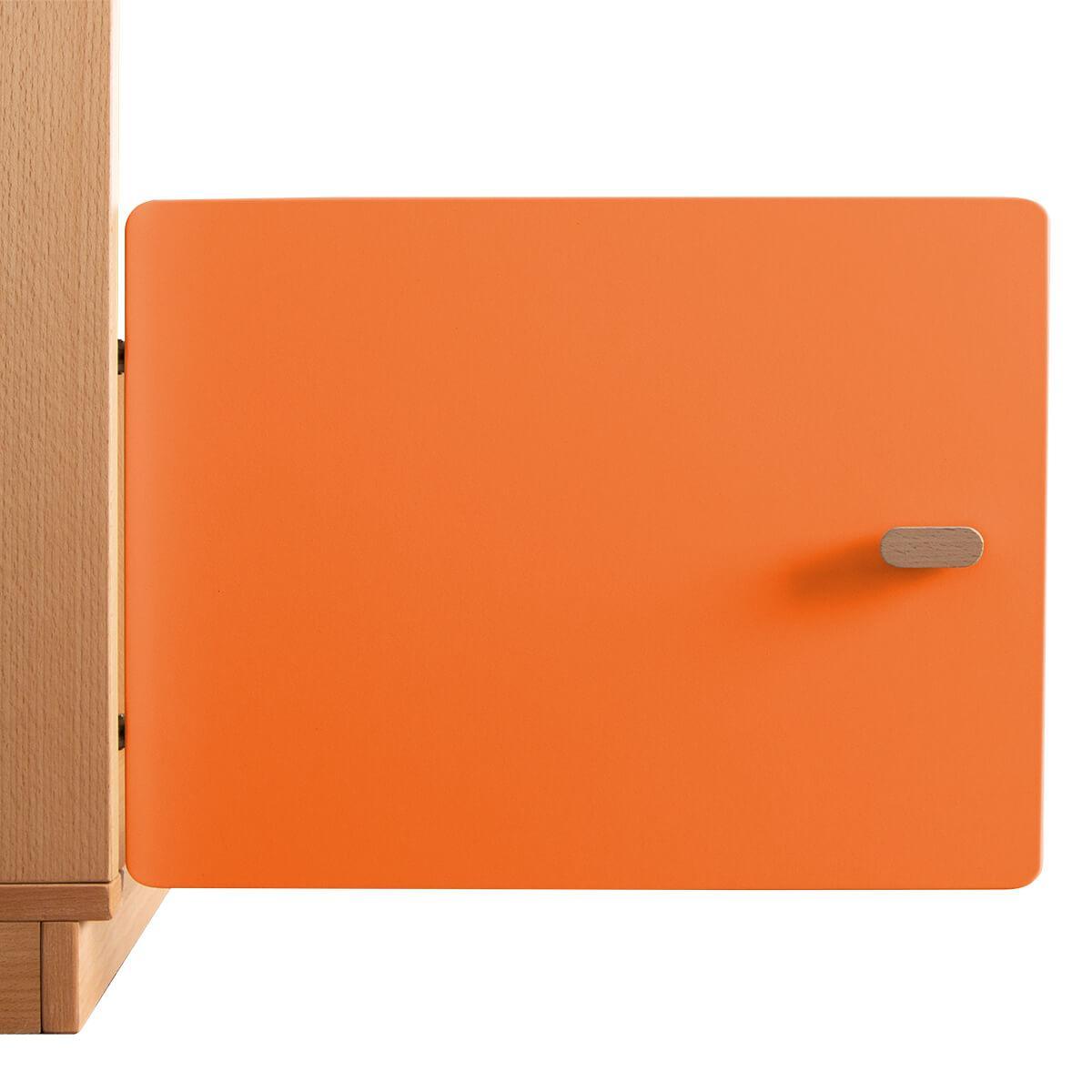 Schranktür 1/5 35cm-Griff DESTYLE de Breuyn MDF orange-lackiert