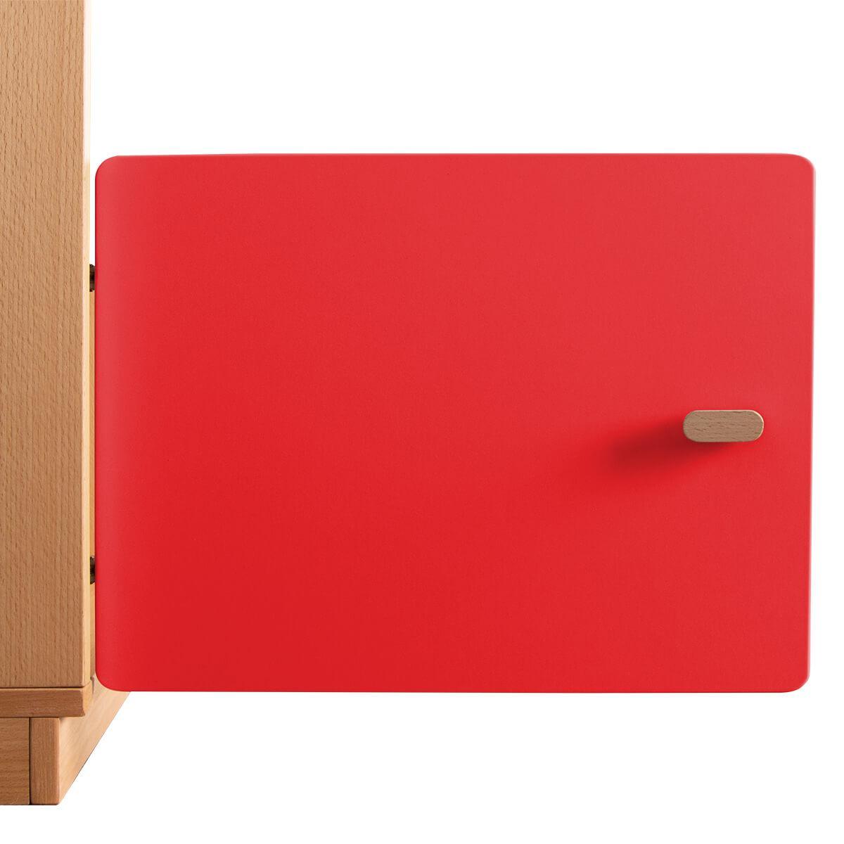 Schranktür 1/5 35cm-Griff DESTYLE de Breuyn MDF rot-lackiert