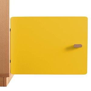 Schranktür 1/5 35cm-Griff DESTYLE Debreuyn  MDF gelb-lackiert