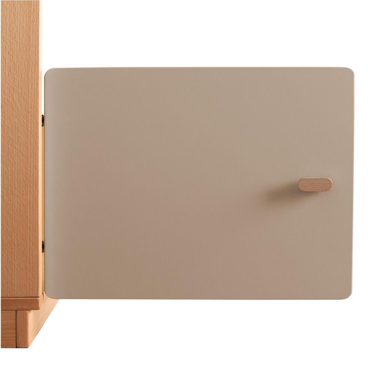 Schranktür 1/5 35cm-Griff DESTYLE Debreuyn  MDF hellgrau-lackiert