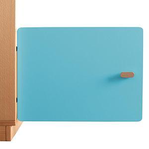 Schranktür 1/5 35cm-Griff DESTYLE Debreuyn  MDF kristallblau-lackiert