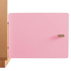 Schranktür 1/5 35cm-Griff DESTYLE Debreuyn  MDF rosa-lackiert