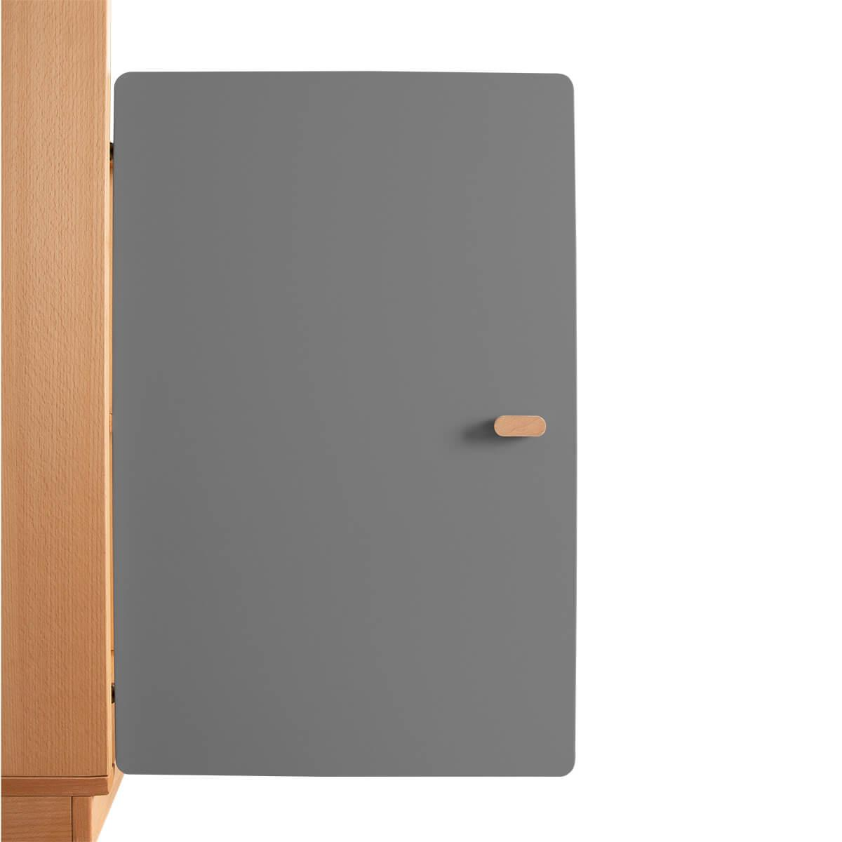 Schranktür 2/5 70cm-Griff DESTYLE de Breuyn MDF anthrazit-lackiert