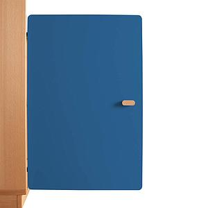 Schranktür 2/5 70cm-Griff DESTYLE de Breuyn MDF dunkelblau-lackiert