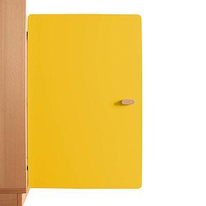 Schranktür 2/5 70cm-Griff DESTYLE de Breuyn MDF gelb-lackiert