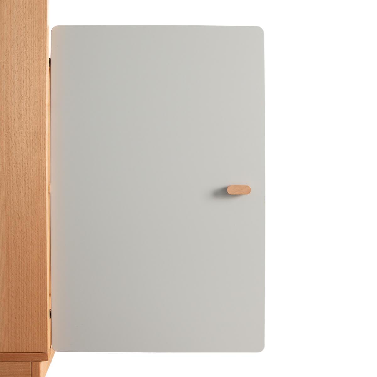 Schranktür 2/5 70cm-Griff DESTYLE de Breuyn MDF grau-lackiert