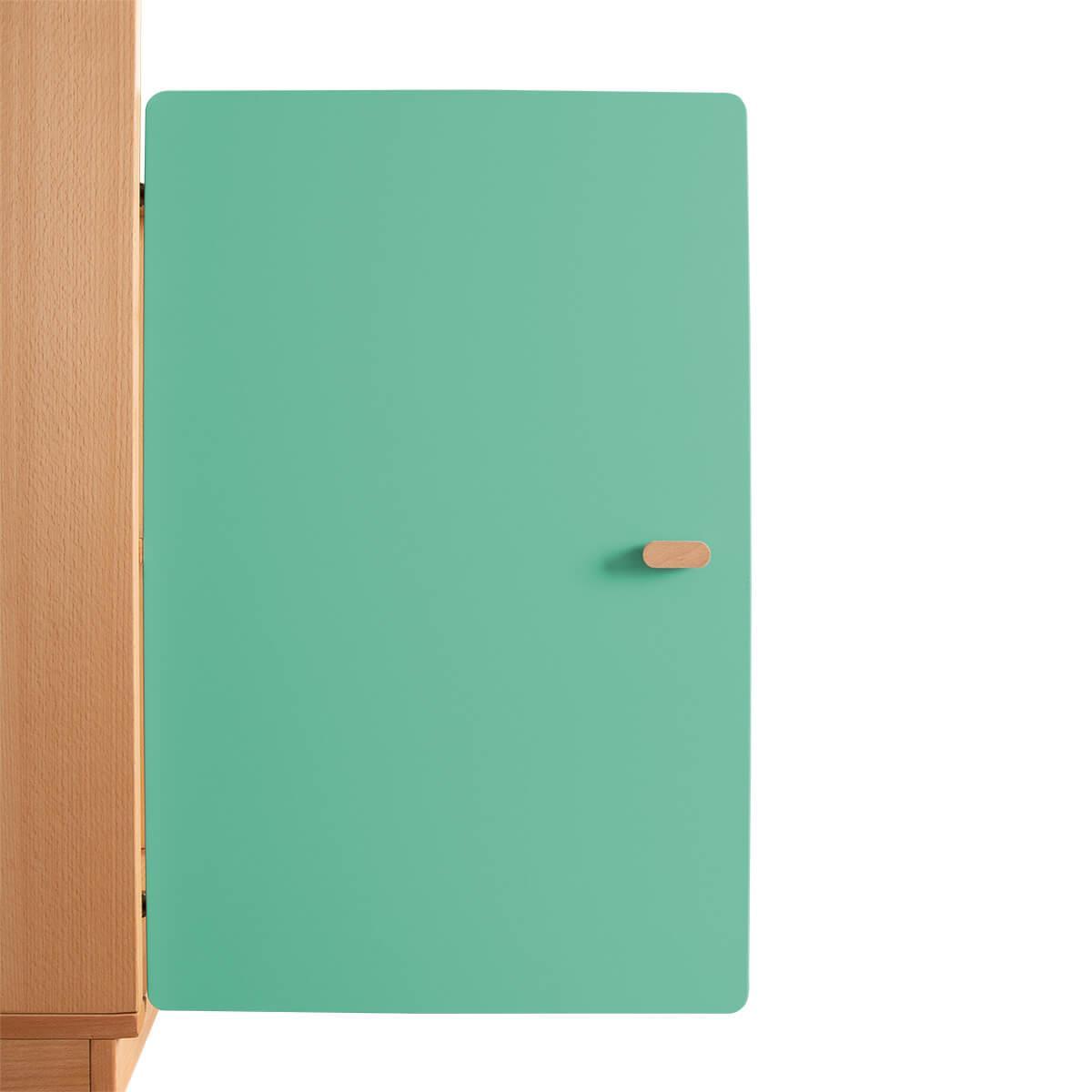 Schranktür 2/5 70cm-Griff DESTYLE de Breuyn MDF grün-lackiert
