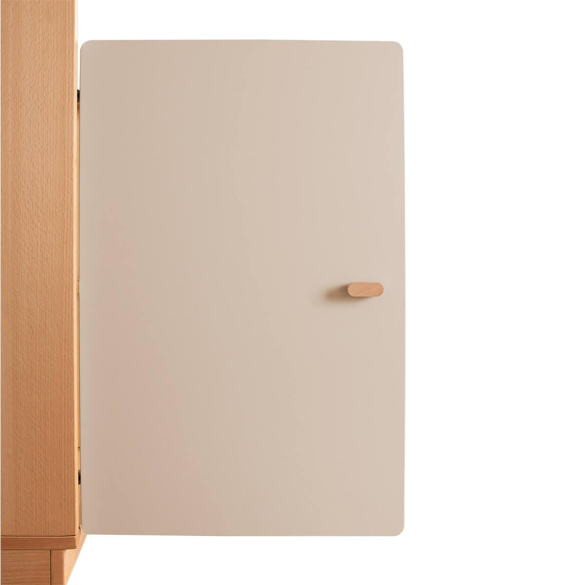 Schranktür 2/5 70cm-Griff DESTYLE de Breuyn MDF hellgrau-lackiert