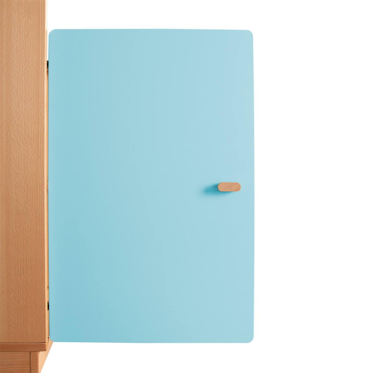 Schranktür 2/5 70cm-Griff DESTYLE de Breuyn MDF kristallblau-lackiert